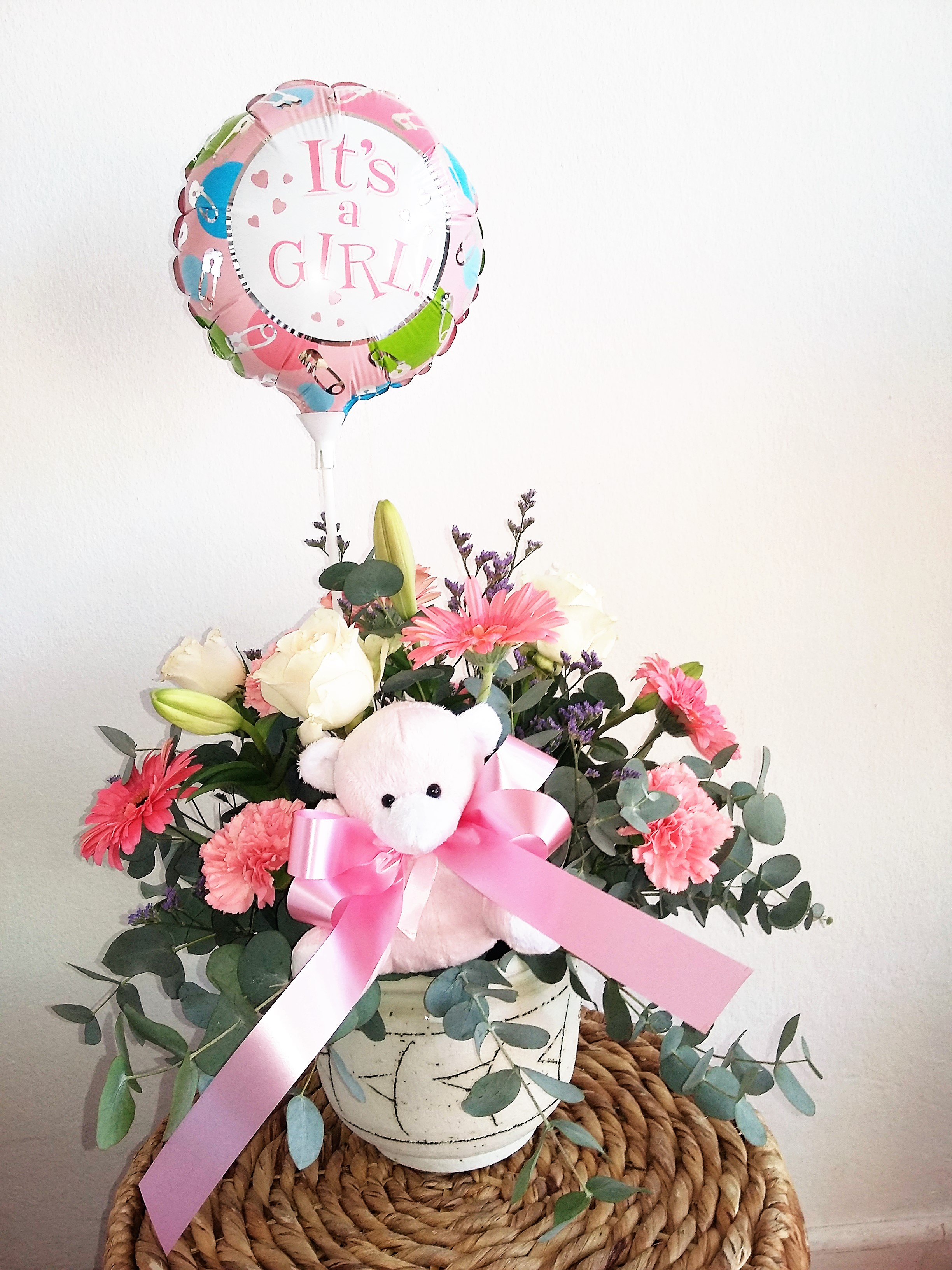 Baby Girl Arrangement Fine Flowers By Lily