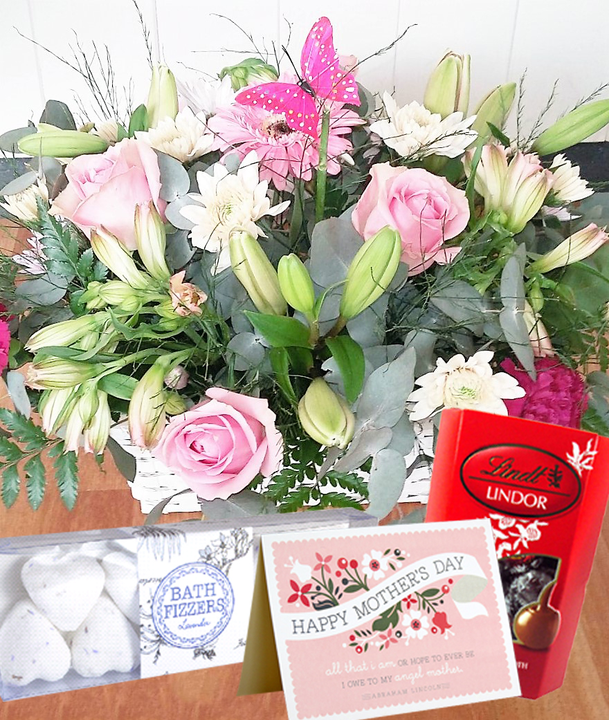 Mothers Day Special Basket Fine Flowers By Lily